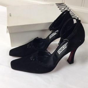 Moschino black suede shoes